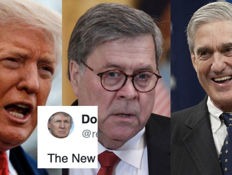 Donald se Quitó la Máscara y Dejó Ver lo Asustado que Está de Que se Publique el Informe Mueller Completo