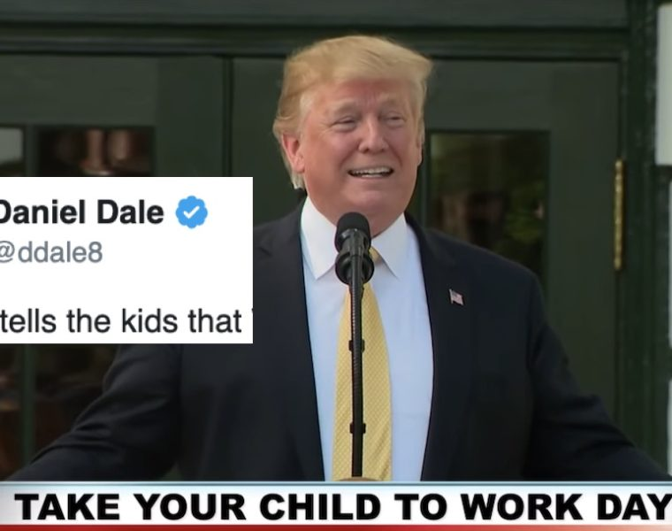 """Trump Confronta a los Hijos de los Periodistas de la Casa Blanca Respecto a la """"Honestidad"""" de sus Padres"""