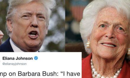 Parece Que Trump no Puede Dejar de Pelearse Con Republicanos Muertos. Ahora le Tocó a Bárbara Bush