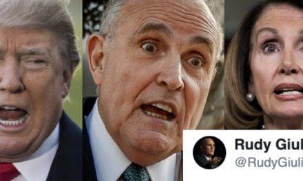 Bravo Por Rudy Giuliani: Él ni Siquiera Esperó Que la Pelosi lo Destrozara, Sino Que se Humilló a Sí Mismo