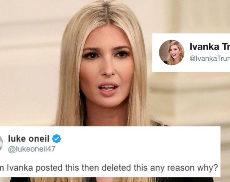 Ivanka Borró un Tweet Luego de Darse Cuenta de Que Exponía un Documento de Seguridad Nacional