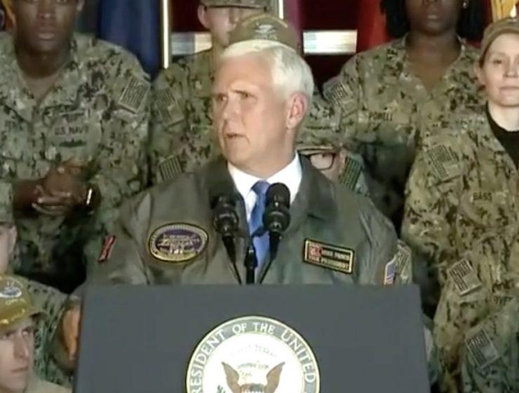 Extrañas e Inapropiadas Instrucciones Recibieron los Marines Antes de la Visita del Vicepresidente Pence