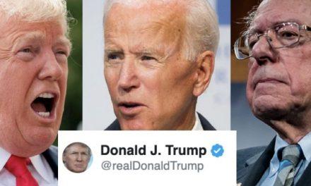 Trump Les Tiene Tanto Miedo, Que Trató de Atacar a Biden y a Bernie en un Sólo Tweet