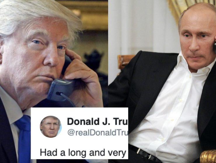 El Colmo de la Presunción: Trump se Jacta de Haber Tenido Una Muy Buena Conversación Con Putin