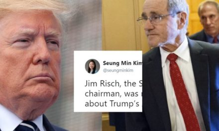 Confrontan al Presidente del Comité de Relaciones Exteriores del Senado Sobre las Barbaridades de Trump
