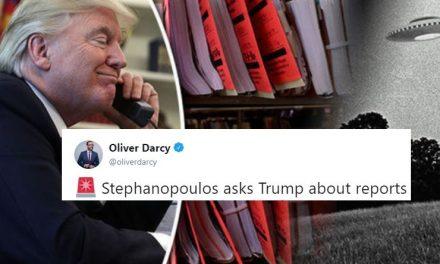 Le Preguntaron a Trump Sobre los Recientes Avistamientos de OVNIs y Dió Una Brillante Respuesta