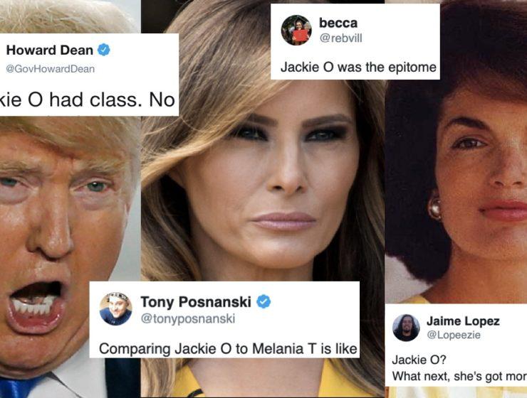Trump Trató de Comparar a Melania Con Jackie O. y las Redes se Prendieron Con Burla y Estruendo