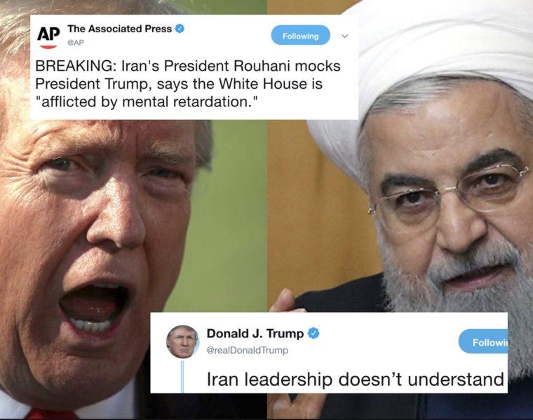 Premier Iraní se Burla Públicamente de las Facultades Mentales de Trump y Este Contraatacó en Twitter