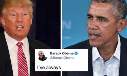 Obama Contraataca: Recién Tuiteó un Editorial Enfocado en el Racismo y la Xenofobia de Trump