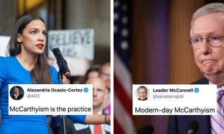 """Ocasio-Cortéz se Enfrenta a """"la Parca"""" y lo Pone en su Lugar. Ella no Teme al Líder del Senado. Ni a Nadie"""