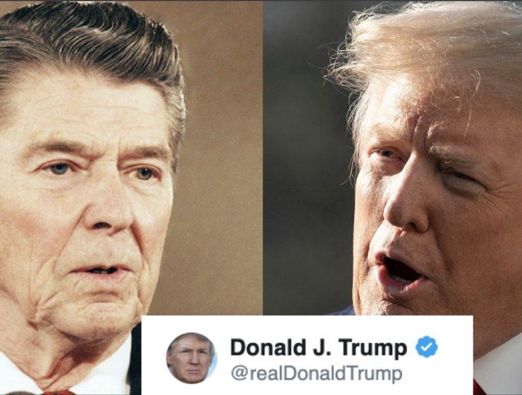 Trump Compartió Una Cita Falsa de Reagan Sobre Sí Mismo. Twitter la Borró Pronto, Pero Aquí Está