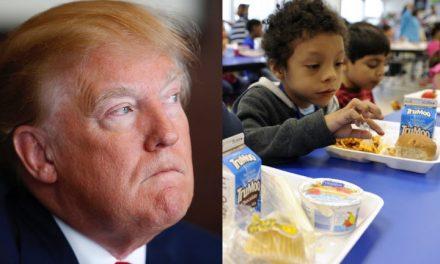 Acaban de Revelar Nuevo Plan de Trump Para Privar a 500,000 Niños Pobres de Su Almuerzo Escolar