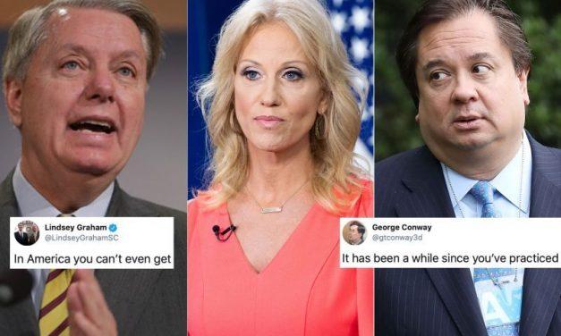 """Pura Basura"" Dice el Esposo de Kellyanne Sobre la Defensa Que Hizo Lindsay Graham de Trump"
