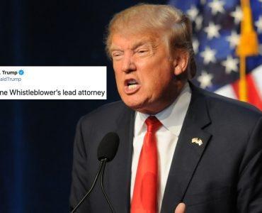 """Trump Acusa al Abogado del Informante de """"Ucraniagate"""" de Algo Que Él Mismo Hizo. Y Está Documentado"""