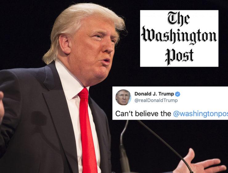 """Ahora Trump Dice Que el Washington Post no es """"Noticias Falsas"""", Pero Evidentemente no Leyó el Periódico"""