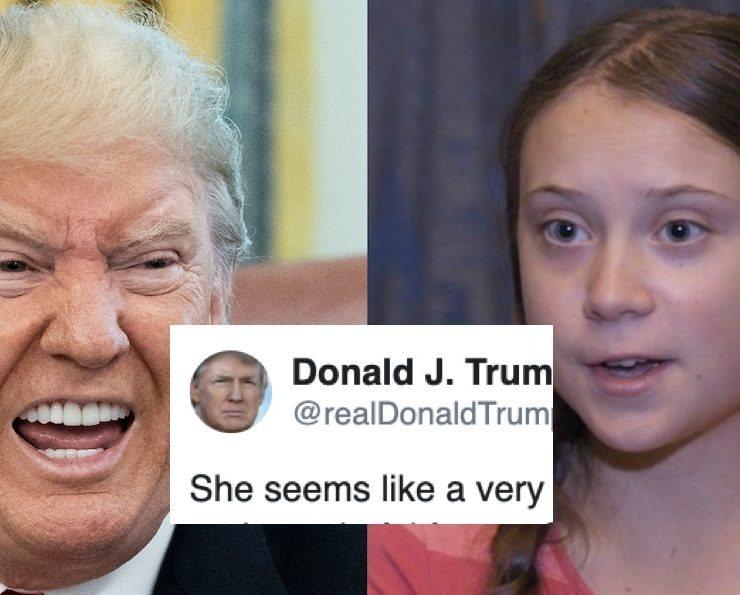 Sin Vergüenza Alguna, Trump se Burla de la Niña Que Está Advirtiendo al Mundo del Peligro Que Corremos
