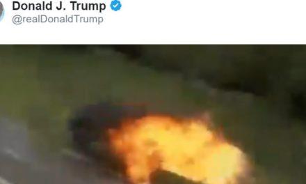 """Trump Tuitea un Video Manipulado Digitalmente Para """"Demostrar"""" su Razón Respecto al Huracán y Alabama"""
