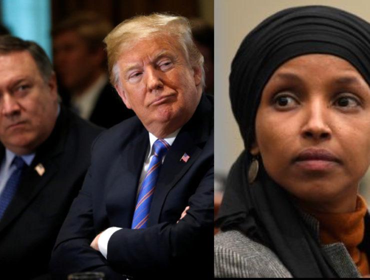 """Trump me llamó """"Salvaje"""": Ilhan Omar Destroza a Pompeo Por Decir Que los Demócratas Intimidan a su Gente"""