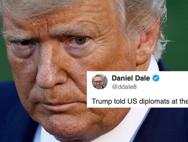 Trump le Inventó a los Diplomáticos Una Historia Falsa de CNN Que Inmediatamente le Explotó en la Cara