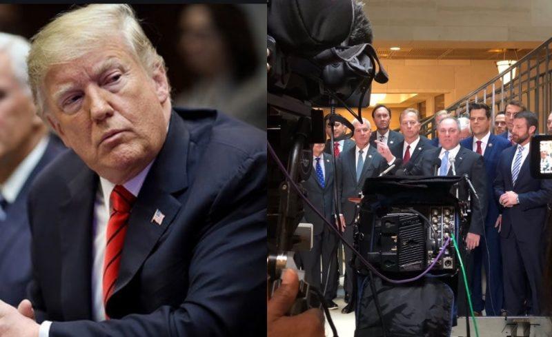 Trump Sabía de los Intentos del Caucus Libertad Para Obstruir la Destitución. Y los Apoyó