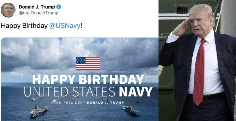 Colosal Metedura de Pata: Trump Felicita a la Marina de EEUU Con Una Foto de un Acorazado Ruso