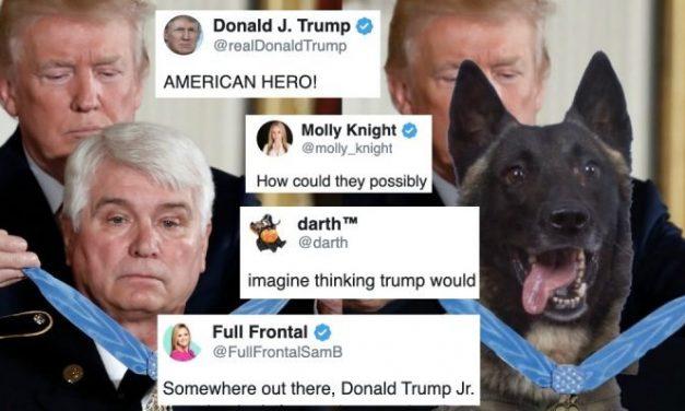 Trump Condecora al Perro Héroe Editando Una Imagen de un Veterano Héroe de Vietnam. Hierven las Redes