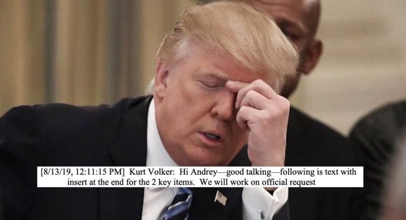 Alto Diplomático de Trump Libera Mensaje Enviado al Gobierno de Ucrania Sobre Biden, Probando el Quid Pro Quo