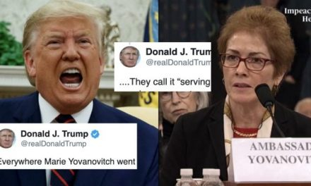 El Ataque de Trump a la Embajadora SÍ es Intimidación de Testigos y es Otro Motivo Para su Destitución