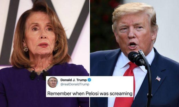 ¿Cómo Terminó Trump su Año? Pues, por Supuesto, Que Atacando a Nancy Pelosi