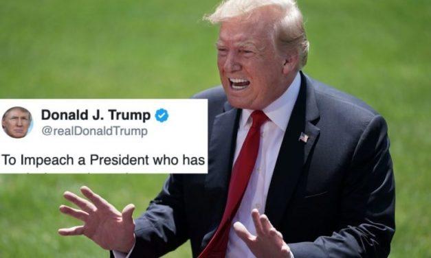 La Reacción de Trump a los Artículos de su Juicio Político es… Muy a la Manera de Trump