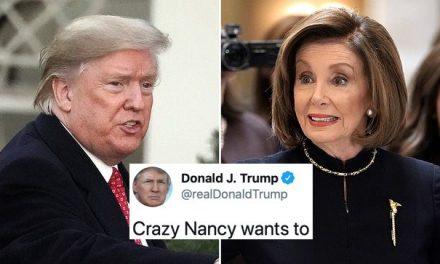 """""""La Loca Nancy"""": Así Ataca Trump a Pelosi en su Único Tuit Político del Día y se Humilla Aún Más"""
