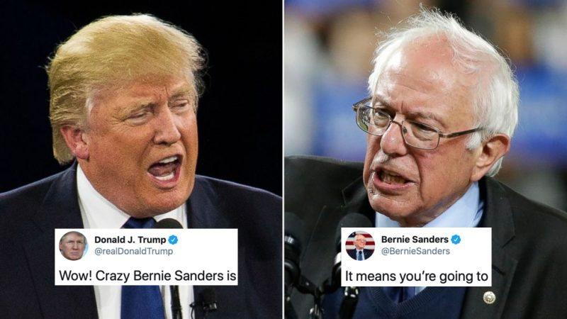"""""""Eso Significa Que Vas a Perder"""": fué la Respuesta Perfecta de Bernie Sanders al Tuit de Trump"""