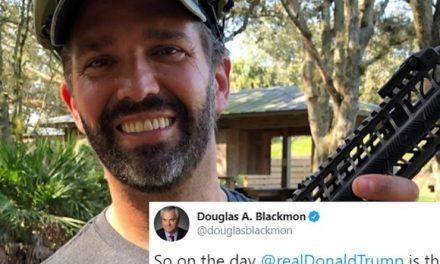No Hay Dudas: los Simbolos que Don Jr. Muestra en su Rifle son los Amados por los Supremacistas Blancos