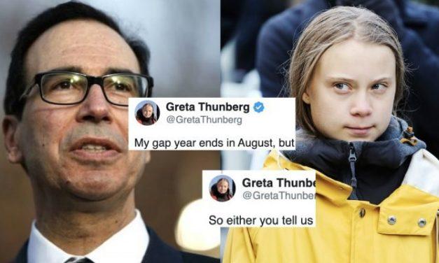 Lacayo de Trump le Dice a Greta Thunberg Que Obtenga un Título Universitario. Su Respuesta es Aplastante