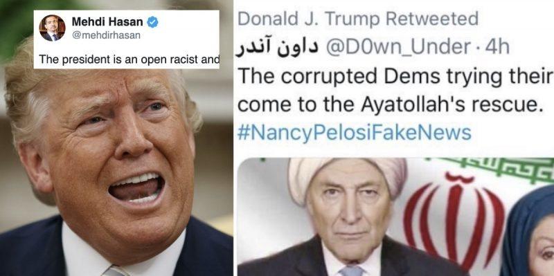 Trump Provoca Indignación al Compartir la Foto con Photoshop de la Vocera Pelosi Usando un Hijab