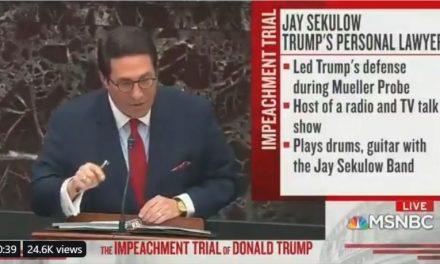 Abogado de Trump Encuentra el Más Estúpido de los Argumentos de Por Qué Trump no Debe Ser Destituido