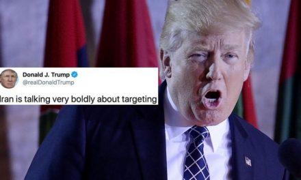 Trump Amenazó con Atacar a 52 Objetivos Iraníes en Aterradora Diatriba de Twitter