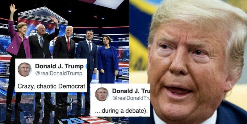 Trump Despreció a los Participantes en el Debate Demócrata y Demostró Que su Miedo Crece Por Día