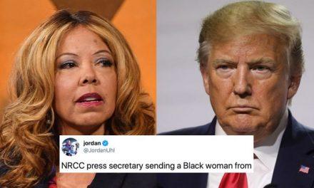 """Secretaria de Prensa del NRCC Envía Cartel de """"EN VENTA"""" a Congresista Negra del Sur. Bloomberg Involucrado"""