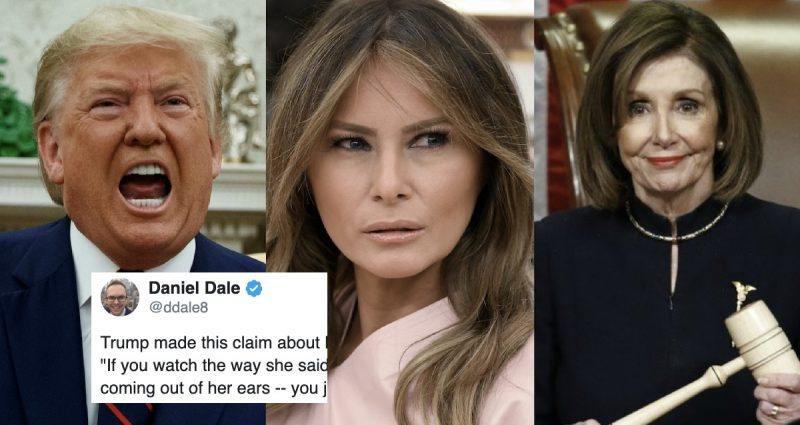 """Pobre Familia Trump. Fueron Tratados Tan Mal Por Pelosi Que Melania Dijo: """"Oh, Dios, es Horrible"""""""