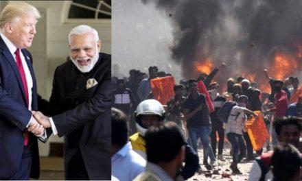 """Estallan Disturbios en India Durante Visita de Trump. """"India Para los Indúes"""":  13 Muertos y Cientos de Heridos"""