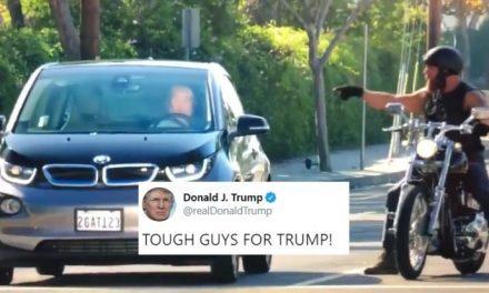 """Trump Publica un Clip que Muestra un """"Tipo Duro"""" Maldiciendo a un Viejo Judío"""