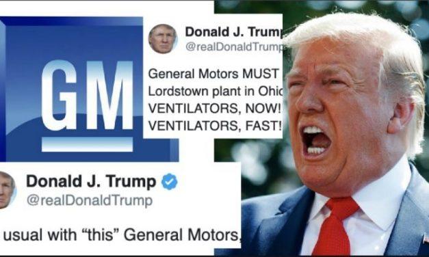 Trump Grita Frenéticamente a GM Que Produzcan Ventiladores Después de Haber Dudado Que Fueran Necesarios