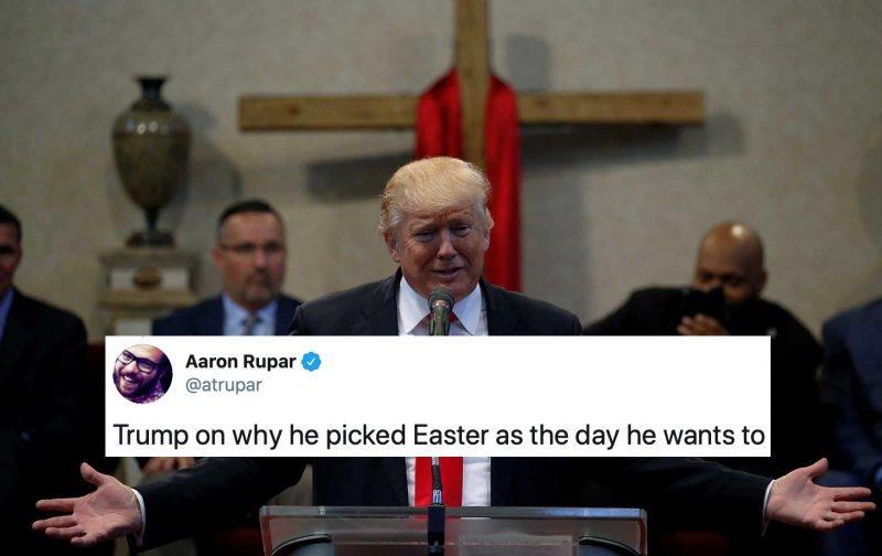 Trump Desafía el Consejo de los Médicos: Todos a Amontonarse en las Iglesias el Domingo de Pascua