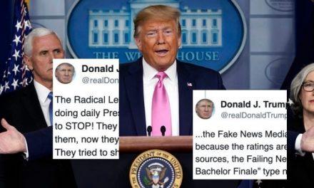 """Trump no se Avergüenza de Acusar a la Prensa de Ganar Ratings """"Gratis"""" Gracias a sus Informes del Coronavirus"""