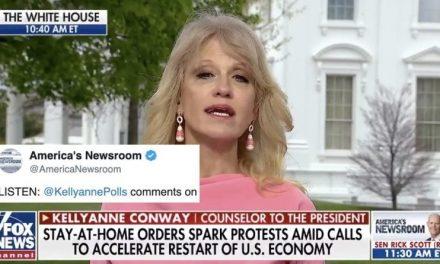 """Kellyanne Conway Ataca a los Gobernadores por su """"Sentido Común"""" Mientras Defiende a los Manifestantes"""