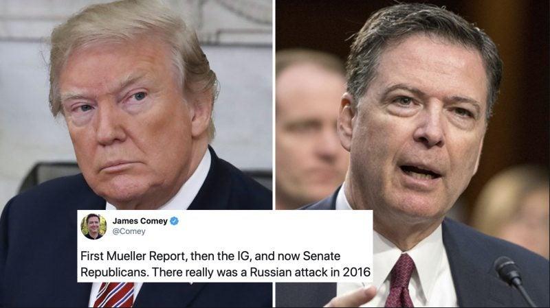 Reaparece Comey y Golpea Fuerte a Trump Después Que se Confirmó la Interferencia de Rusia en el 2016