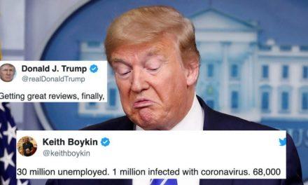 """Trump Espera Que lo Felicites Por Tener Sólo """"70,000 muertos"""". Ha Sido un Genio Manejando la Pandemia"""