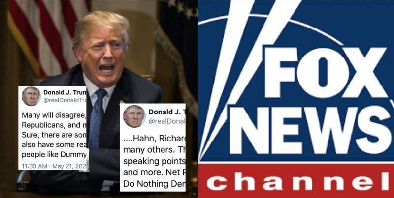 """Ahora Resulta Que Para Trump Fox es """"Pura Basura"""" Por no Ayudarlo a ser Reelegido en Noviembre"""