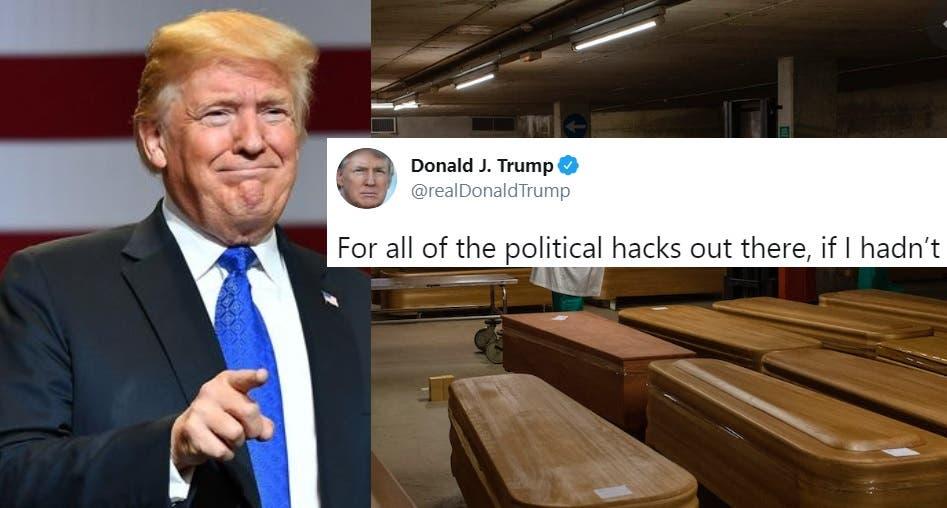 100,000 Estadounidenses Muertos Demuestra el Buen Trabajo de Trump. ¿No lo Crees? Pregúntale a Él